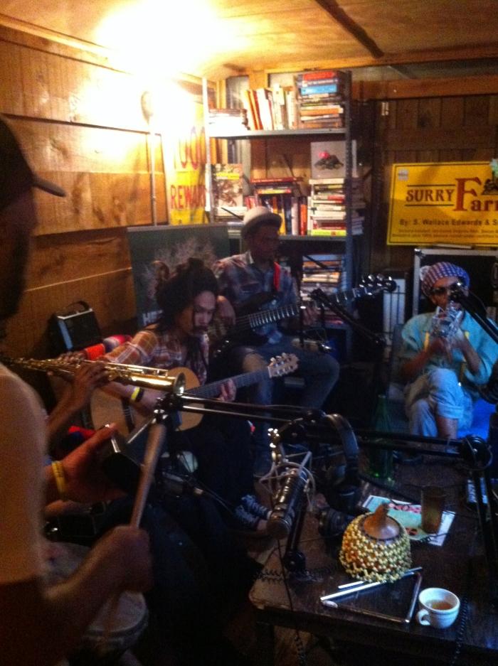 New York's Brown Rice Family in the Heritage Radio Network Studio's in 2013. Bushwick, NY.